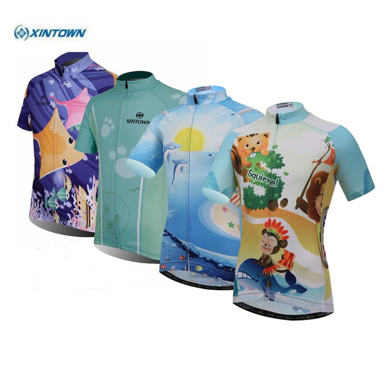 Clothing Bicycle-Wear Short-Sleeve Bike Ropa-Ciclismo Children XINTOWN Kid Girls