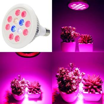 Tam spektrumlu LED Bitki Büyümek Işık 36 W E27 LED Büyüyen Hidroponik Işık Sebze Fideleri için sera bitkisi Aydınlatma