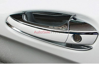 For Mercedes Benz CLA C117 W117 2014 2015 Left Hand Drive ABS Chrome Door Handle Cover Trim 8pcs car accessories