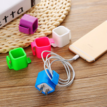 100PCS Colorful Cable Wire Organizer drop Clip Tidy USB Charger Plug Cord Holder Fixed clamp For iPhone 5 5s 6 6s 7