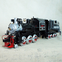 manual Hot-selling products metal steam locomotive model home decoration accessories modern  christmas decorations