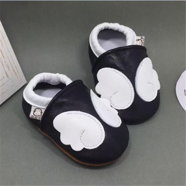 Brand Genuine Leather Baby Boys Shoes Butterfly-knot Toddler Girls Slippers First Walkers Dermal Kids Shoes sapatos infantil