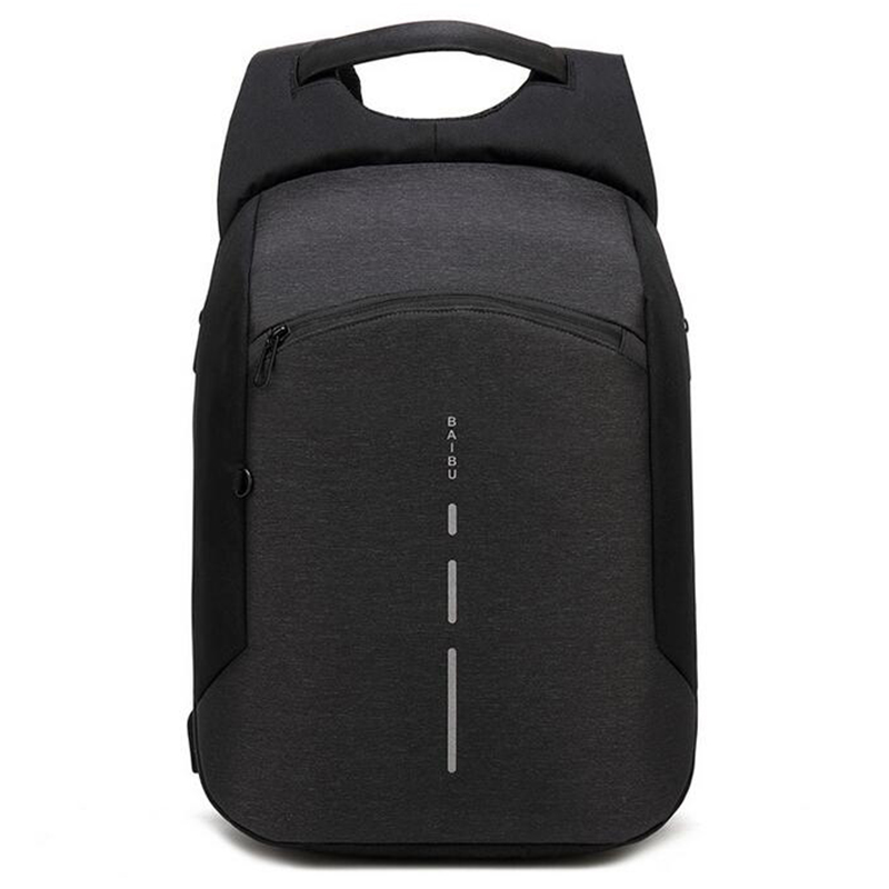 BAIBU New Men Backpack Anti theft Backpack Big Fashion 15.6inch USB Charge Laptop Backpack Men Travel Waterproof School Bag 2018