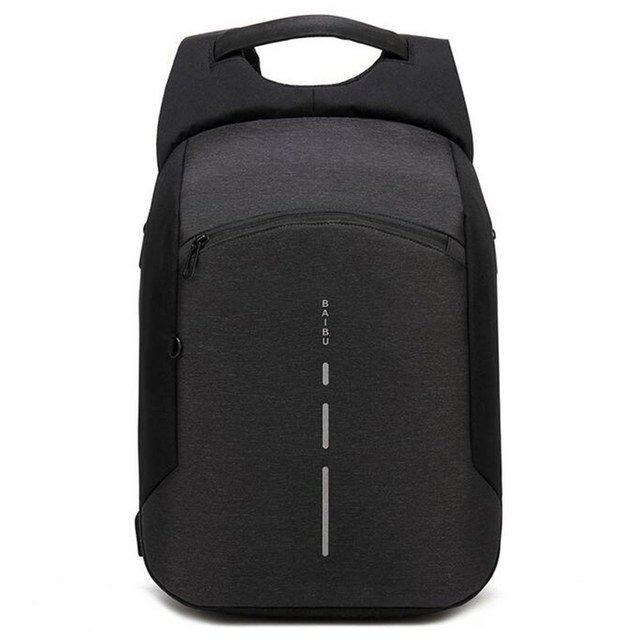 71a7748bf719 BAIBU New Men Backpack Anti theft Backpack Big Fashion 15.6inch USB Charge  Laptop Backpack Men Travel Waterproof School Bag 2018-in Backpacks from ...