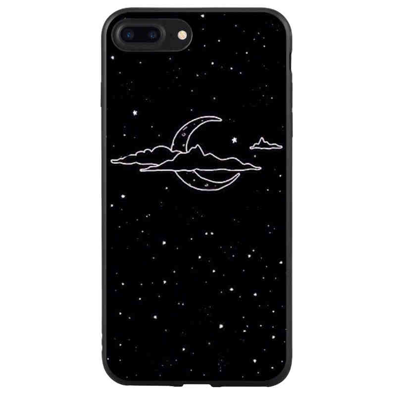 Half-wrapped Case The Best Yinuoda For Iphone 7 6 X Case Sky Space Planet Black And White Sun Moon Star Phone Case For Iphone X 8 7 6 6s Plus X 5 5s Se 5c