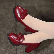 New Spring Brand 2015 Designer Thick High Heels Women Party Pumps Bow Platform thick heels Shoes Casual Shoes Size 32-47 OX065