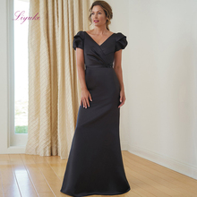 Liyuke 2019 Mother Of The Bride Dresses Short Sleeves V-neck Simple Design Plus Size Customer Made Size