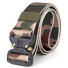 Canvas Army Belt Men Tactical Designer Trousers Belts Thick Nylon Military Camouflage Belt Long Waist Belt Climbing Equipment military tactical nylon shotgun belt camouflage light gray