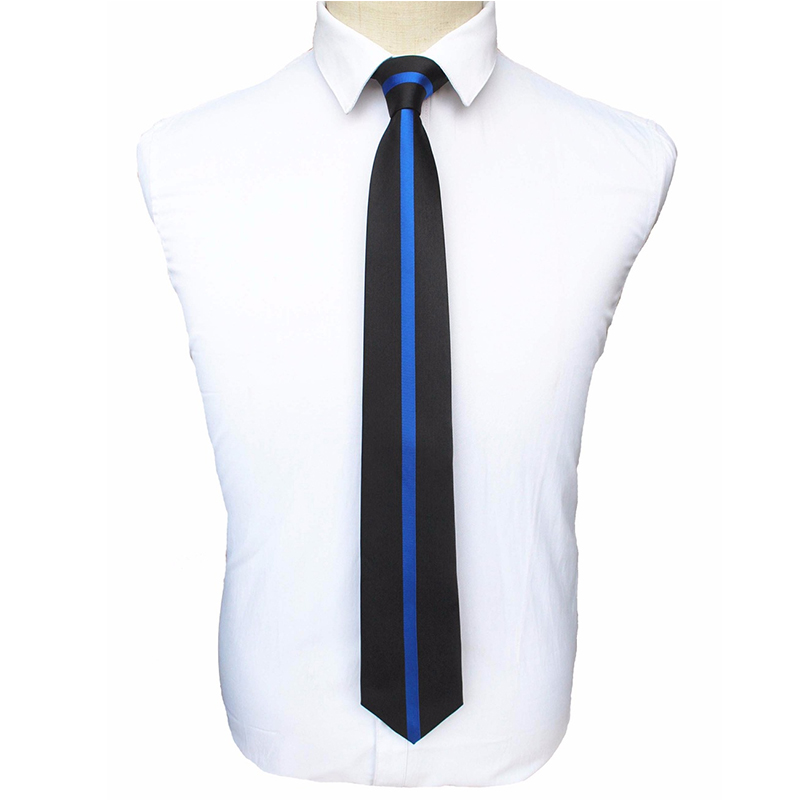 JEMYGINS Original US Police Tie Thin Blue Line Necktie With Gift Box Newest Design High Quality For USA Police Men