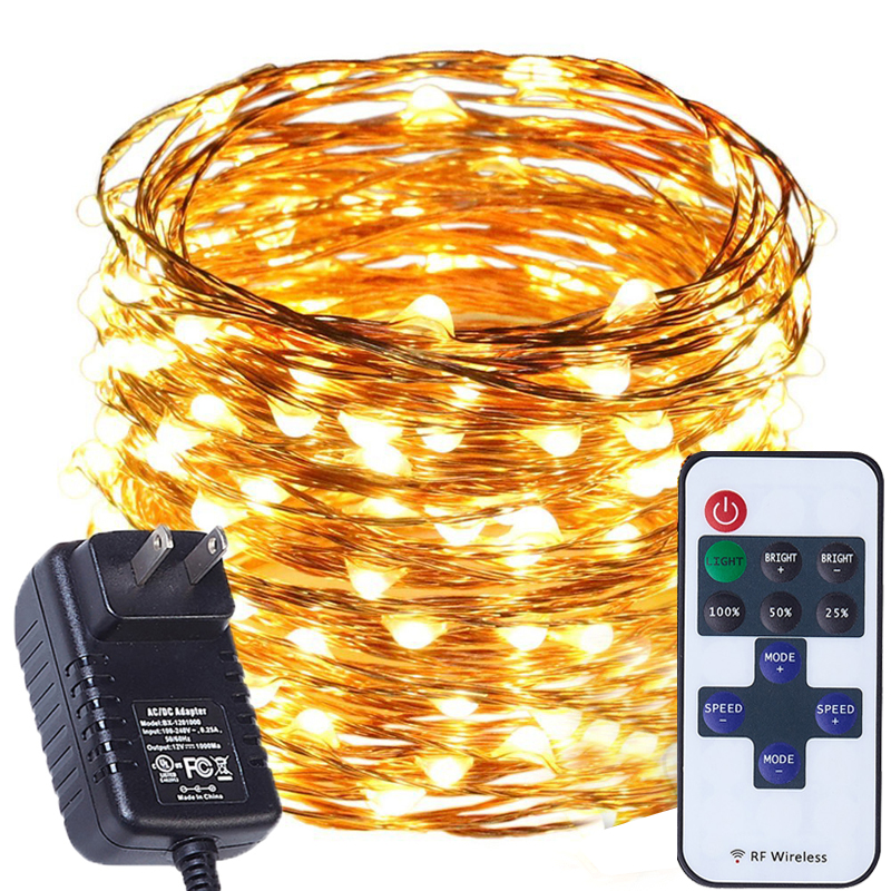 20M/66Ft 200 LEDs Remote Dimmable Led String Fairy Lights Outdoor Waterproof for Garden Wedding Halloween Christmas Decorations
