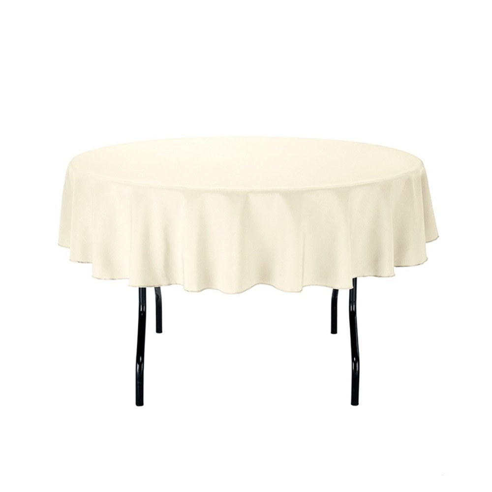 180cm round polyester tablecloth ivory for wedding event banquet party 20pack - Polyester Tablecloths