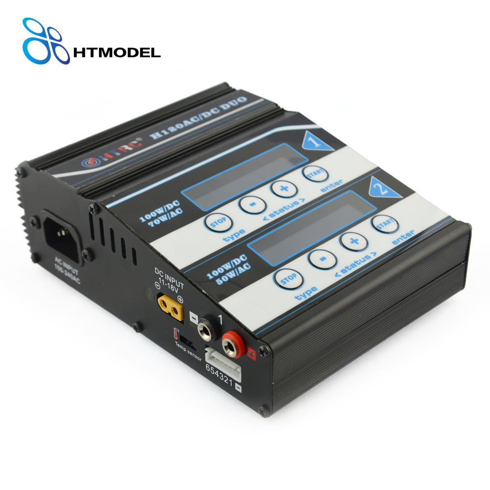 HTRC H120 Double Output 50W/70W  100W*2 10A AC/DC RC Balance Battery Charger/Discharger for Lilon/LiPo/LiFe/LiHV/Pb Battery
