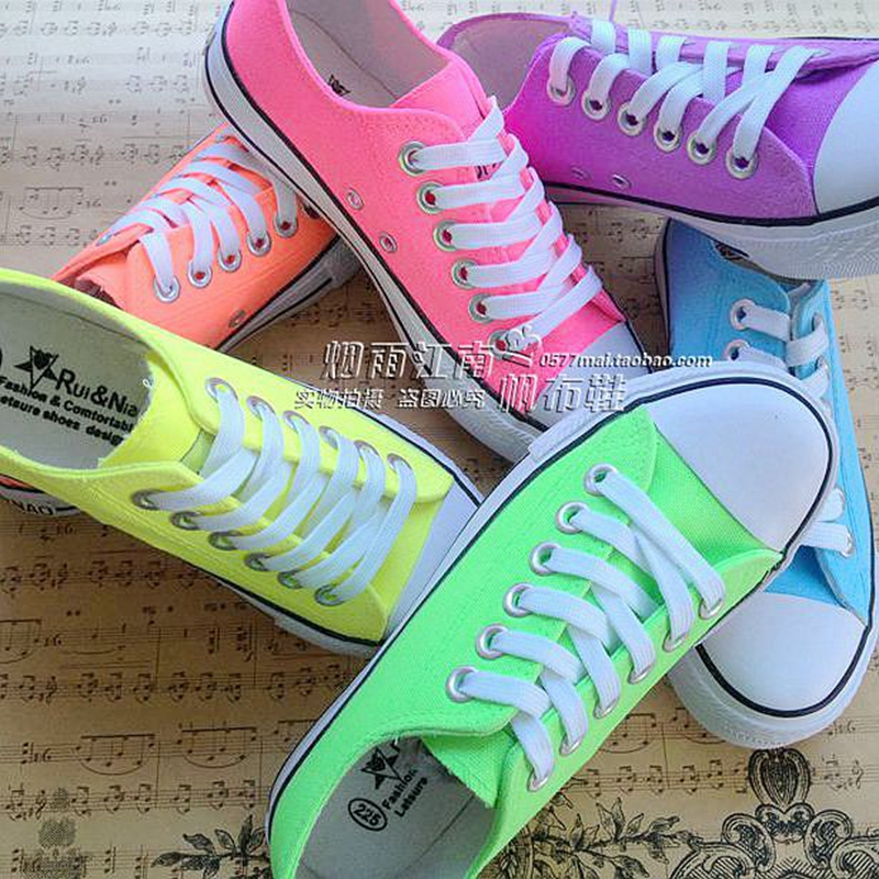get cheap neon canvas shoes aliexpress