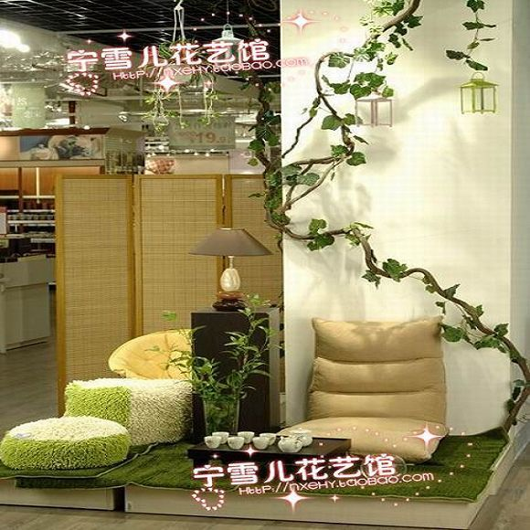 Simulation of rattan vine tree mountain Red Hills ceiling molding decorative vines wall pipe wholesale