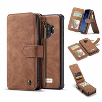 CaseMe Original Luxury Superior Leather Wallet Magnet Flip Case For Samsung Galaxy S9 S9 Plus