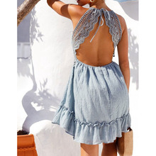 2018 Newest Ladies Cover-Ups V Neck Bikini Cover Up Lace Hollow Crochet Swimsuit Beach Dress Women Bathing Suit Beach Wear