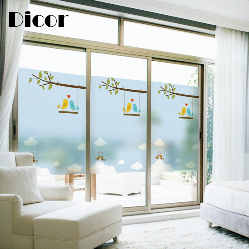 DICOR Brand Window Film Static Cling Frosted Opaque