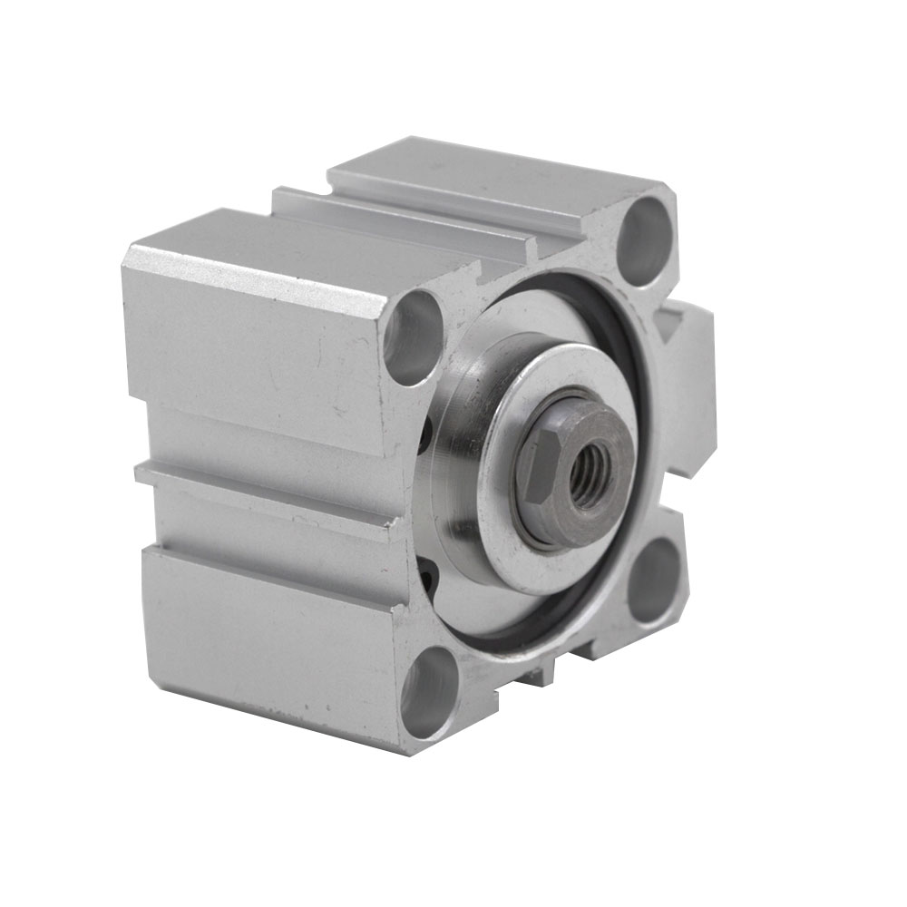 SDA Type Compact Pneumatic Cylinder 40mm Bore 5/10/15/20/25/30/40/50mm Stroke Aluminum Alloy Double Action Air Cylinder cq2kb40 5dz aluminum compact cylinder bore 40mm stroke 5mm