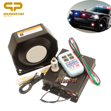 Wireless Contral Alarm Police Siren Megaphone loud Speaker 200W Multi-tone 12V Horn Car Loudspeaker Sound PA MIC System