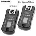Yongnuo rf-605c/n sem fio flash gatilho para canon 700d 7d 5d 1200d 1100d nikon d5100 d3200 d3300 d5000 d300 d90 d7100 d800 d810