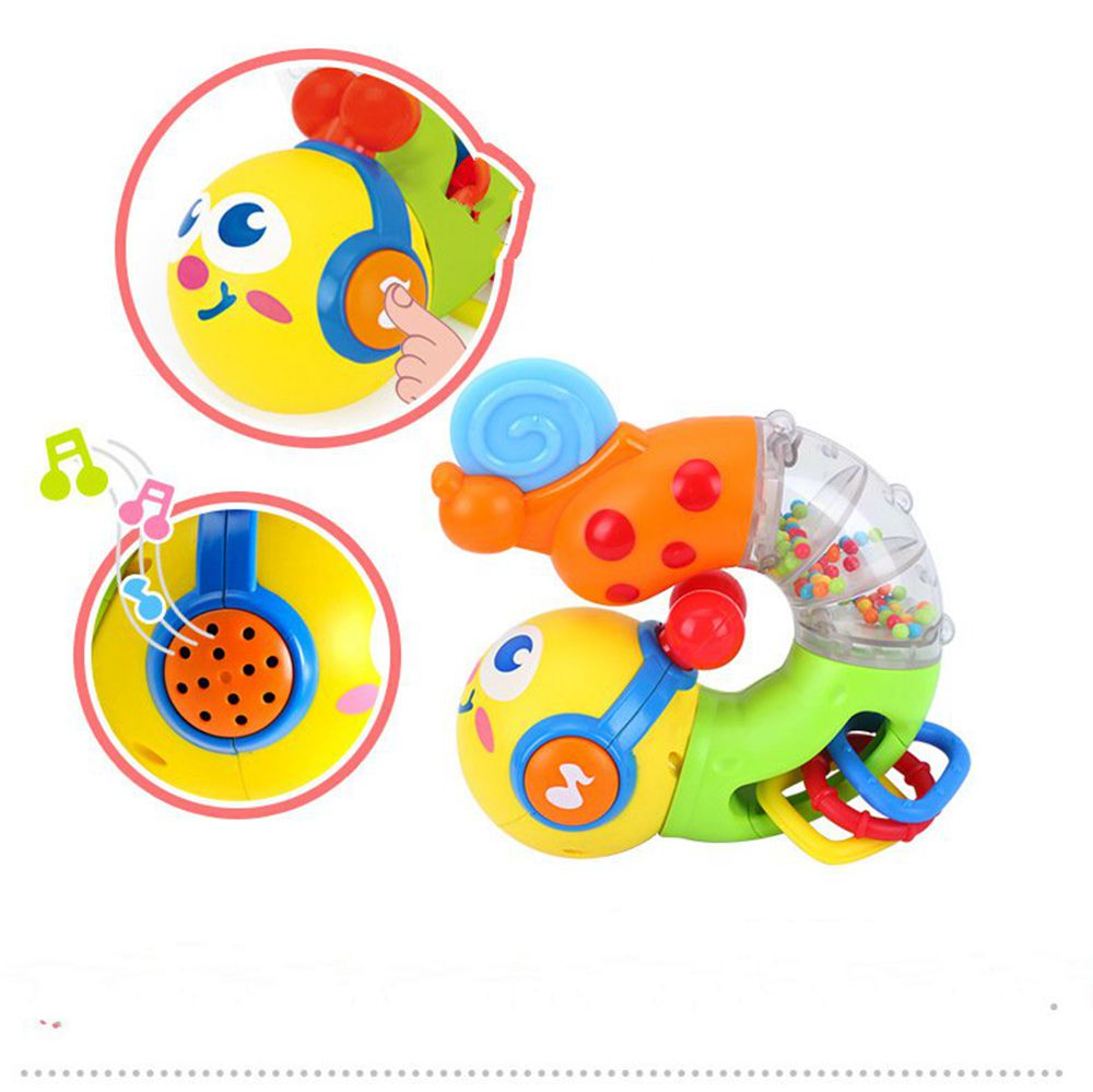 New Cute Baby Toys Electric Musical Twisting Worm Insert Early Educational Toys For Kids Children Huile Toys 917 Xmas Gifts