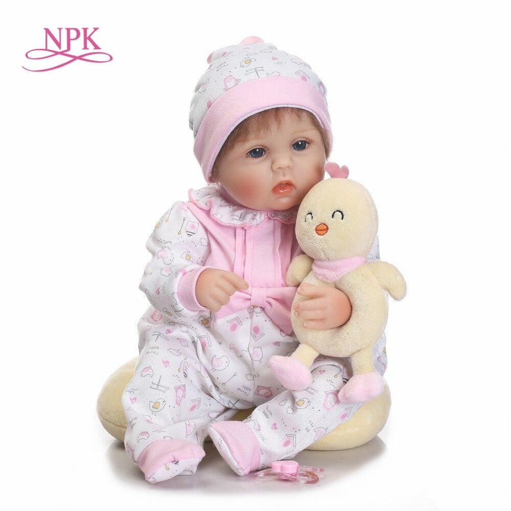 NPK Assez Alice fille poupée reborn 40 cm chiffon doux corps silicone nouveau-né poupées meilleur enfants bebe cadeau poupées bonecas menina