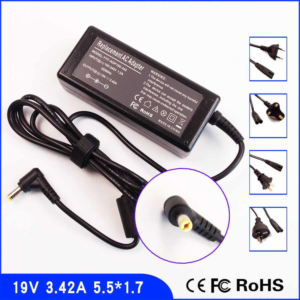 19V 3.42A Laptop Ac Adapter Charger for <font><b>Acer</b></font> <font><b>Aspire</b></font> 5742ZG 7735ZG 4738ZG 3830TG 5830TG 5732ZG 4750ZG 4730ZG 4830TG <font><b>7736ZG</b></font> 5542 image