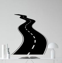 Creative Road Wall Decal Tire Tracks Highway Way Garage Vinyl Sticker DIY Living Room House Interior Decor Stickers NY-300