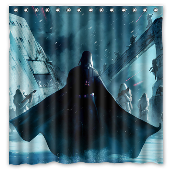 High Quality 180*180cm Star Wars Darth Vader Modern Style Waterproof Fabric Bathroom  Shower Curtain