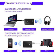 Bluetooth 2in1 Transmitter/Receiver Wireless 3.5mm Adapter aptX Low Latency for TV Home Sound System GDeals