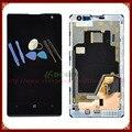 Para nokia lumia 1020 display lcd com tela de toque digitador assembléia lcd com frame cor preta + ferramentas frete grátis