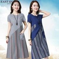 womens summer dresses 2018 summer short sleeve striped tshirt dress casual summer plus size clothes M 3XL NN0706 HQ