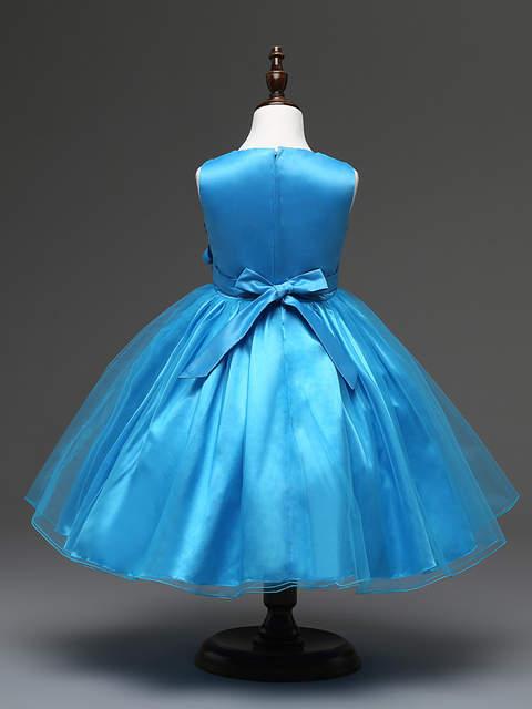 0a11d54298ae5 Cheap Korean Style Clothing Children Simple Sequined Baby Girl Wedding  Dresses Short Aqua Blue Flower Girl Prom Dress