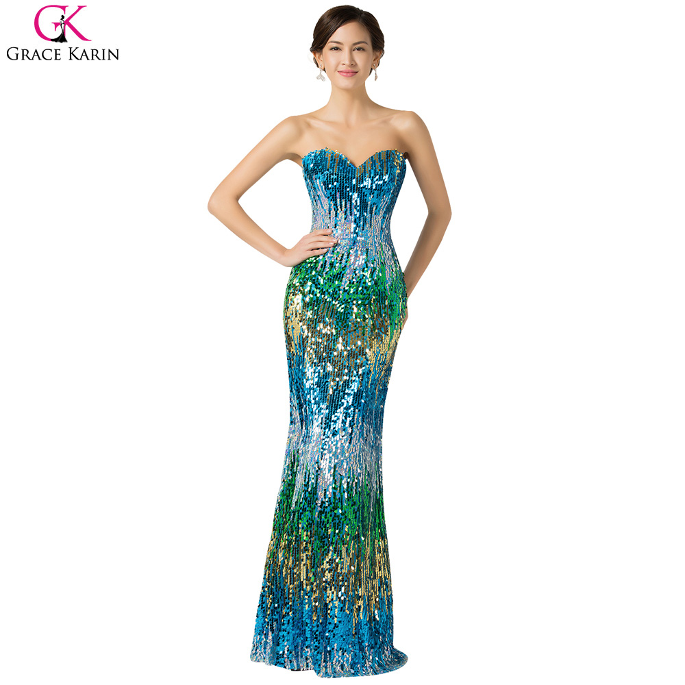 Mermaid Pageant Gowns Grace Karin Green Blue Burgundy Gold Mermaid ...