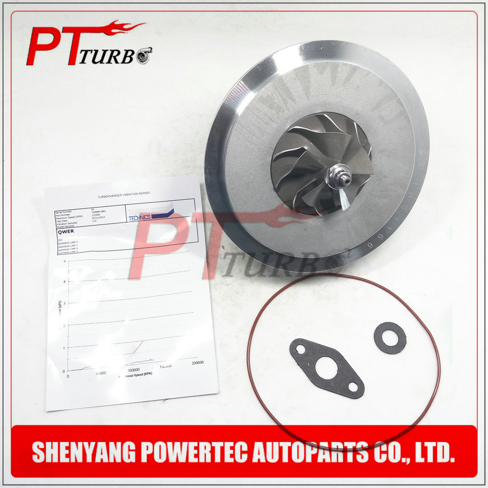 Turbocharger chra GT2260V turbo cartridge 728989 / 725364 / 7789083 / 7789081 turbine core for BMW 530 d (E60 / E61) M57N 160 KW