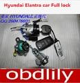 Qualidade Original Um +++ canhão da fechadura carro cheio fechadura da ignição para hyundai bloqueio do carro hyundai Elantra com com controle remoto chave auto bloqueio