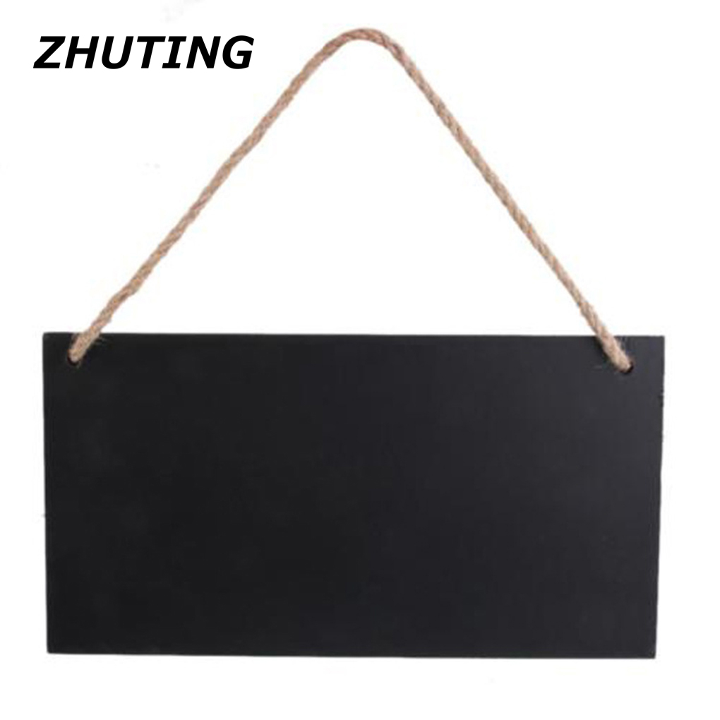 Hint board decorative board for a variety of places hanging rectangular wooden blackboard message board family kitchen bar shop vibration of orthotropic rectangular plate