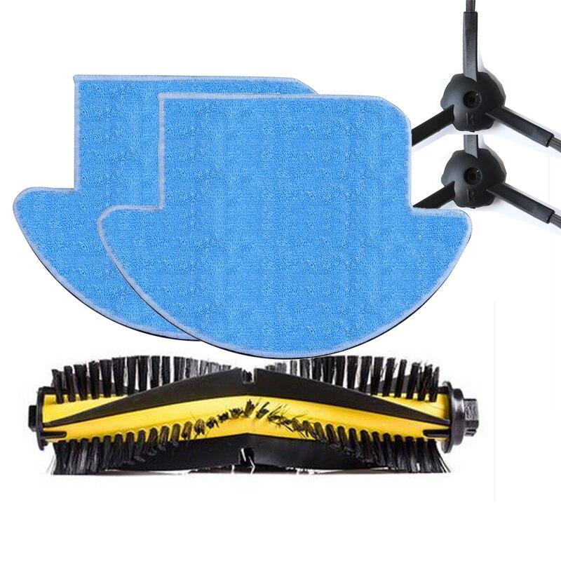 5pcs/set ilife v7s and ilife v7s pro robot Vacuum Cleaner Parts kit ( Main Brush*1+mop Cloths*2+Side Brush*2) original ilife robot vacuum cleaner parts v7s big mop 1 pc