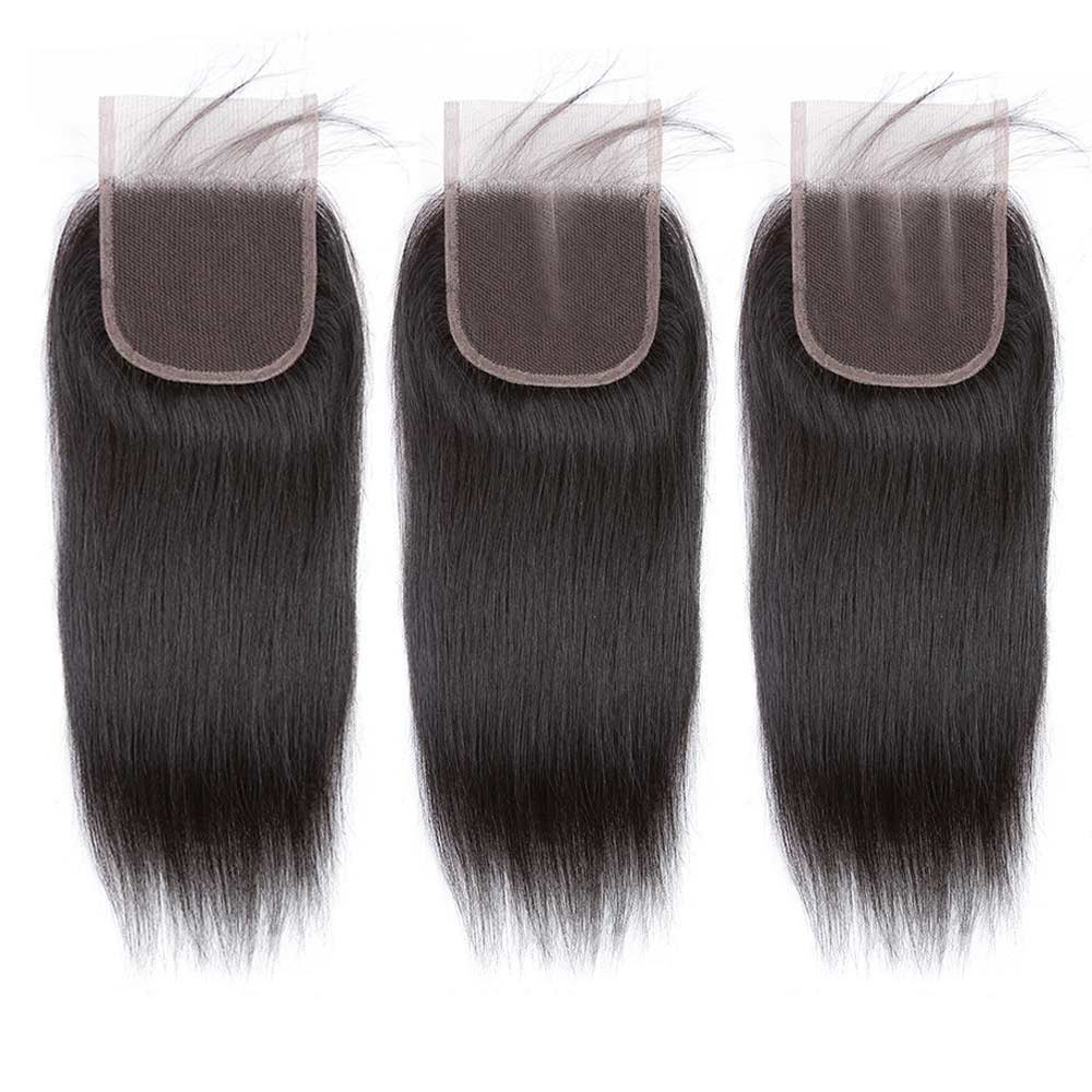 Uneed Hair Malaysian Straight Hair With Lace Closure 3 And 4 Bundles With Closure Remy Human Hair Bundles With Closure