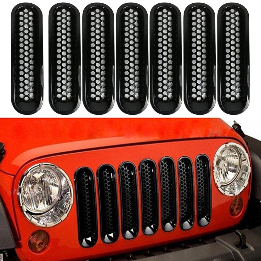 Für 07-16 Jeep JK Wrangler Auto Autofrontgitterkappe ...