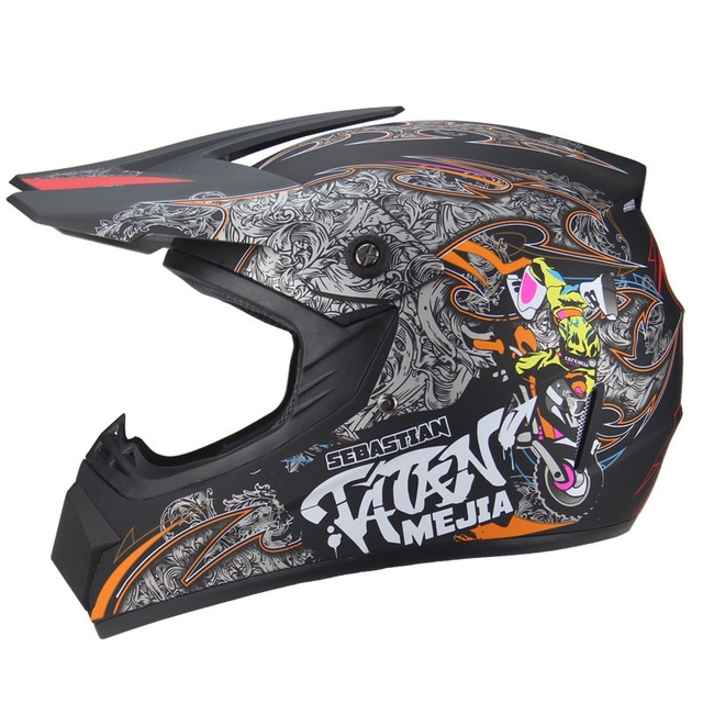 Cool Motorcycle Cross Country Helmet Men And Women Battery Car Helmet Mountain Bike Full Helmet