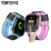 New Kid Tracking Smart Watch Wristwatch 2G GSM GPRS LBS AGPS Locator Tracker Anti-Lost Monitor Touch Screen Flashlight Baby Gift