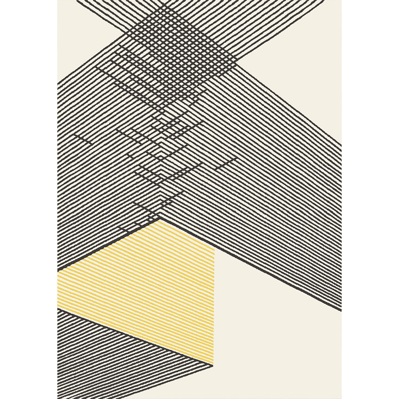 Tapis géométriques nordiques pour salon tapis de chambre à coucher épais en polypropylène Rectangle grand Ins tapis d'étude à domicile tapis de chambre d'enfants - 4