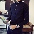 Китайский стиль золотой пряжкой мужской с длинным рукавом рубашки плюс размер плюс размер весна тонкий основной тонкий цветочный рубашку печати легкий уход