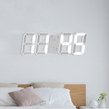 3D LED Wall Clock Modern Digital Table Watch Desktop Alarm Night Light Saat for Home Living Room