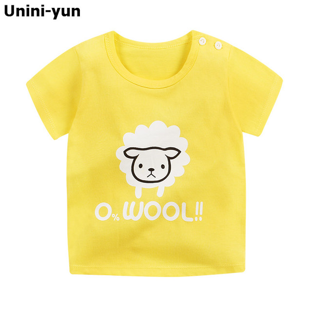 Cartoon designed kids short sleeves top