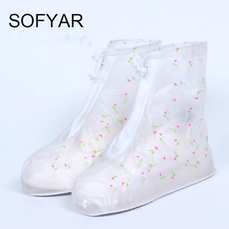 Nueva primavera set lluvia MS populares a prueba de lluvia conjunto más resistentes al desgaste botas de moda enchufe de fábrica mujeres del estilo caliente zapatos cubre lluvia