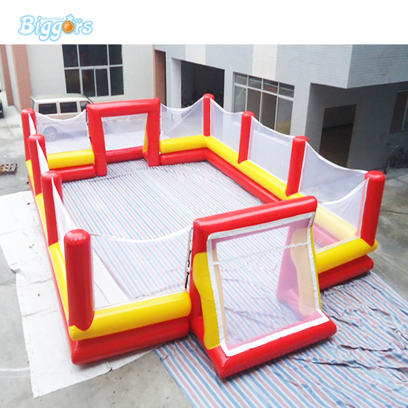 High quality certificated inflatable football court soap soccer filed inflatable soap football pitch mzqm inflatable soccer shootout football inflatable football toss game high quality outdoor game inflatable goal for football