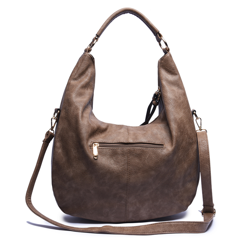 Image 4 - SGARR Fashion Womnen PU Leather Handbags High Quality Large Capacity Ladies Shoulder Bag Casual Vintage Female Hobos Tote Bags-in Shoulder Bags from Luggage & Bags