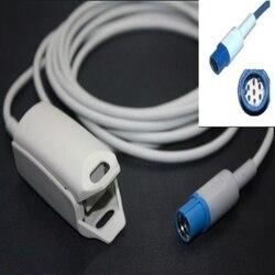 Compatible For Drager 7pin Adult FingerClip Spo2 Sensor Pulse Oximeter Spo2 Probe Oxygen Sensor Cable TPU 3M/9ft